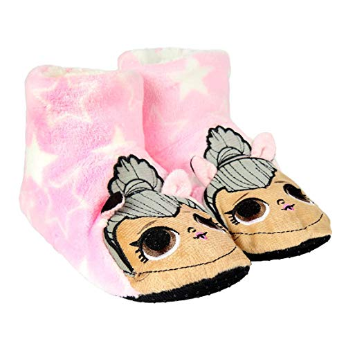 Cerdá L O L Surprise! | Girls Slippers | Soft Plush Warm Cosy Slippers | Adorable Indoor House Shoes | Fleece Lined | Easy Slip On Design
