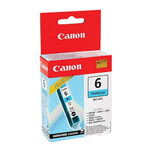 Preisvergleich Produktbild Canon BCI-6 PC Original Tintenpatrone, 13ml foto-cyan