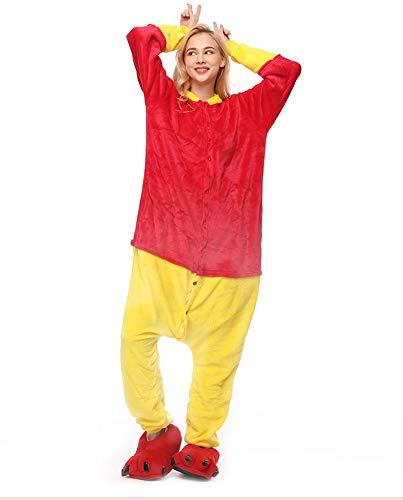 Zbsport pigiama donna cosplay animato winnie the pooh costume versione da toilette camicie da notte carnevale halloween