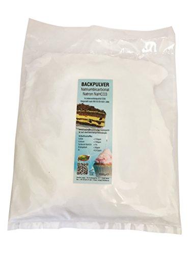 1kg Natron, Natriumhydrogencarbonat, beste Lebensmittelqualität, Backpulver E500