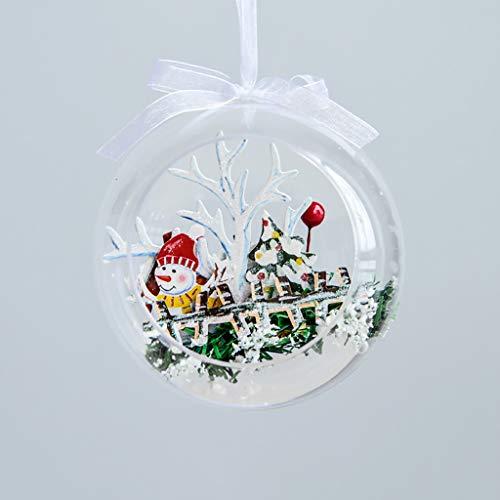 LSAltd 9.5/11.5 cm Weihnachtskugeln Ornamente Ball für Weihnachtsfeier Geburtstag Durchsichtig Dekorationen Tischdeko Fensterdeko Garten Wohnzimmer Weihnachtsdeko Christbaumschmuck