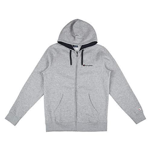 Champion Herren Zip Hoodie Hooded Full Zip Sweatshirt 212066, Größe:2XL, Farbe:grau (oxgm) Retro Full Zip Hoodie