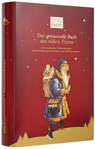 """Lauenstein Confiserie Adventskalender """"Buch"""" - 350 g handgefertigte Trüffel und Pralinen, 24fach sortiert - mit und ohne Alkohol, 1er Pack"""