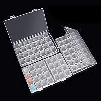 Caja Accesorios Diamond 3 Pack Cada con 28 Compartimentos Extraíble Diamante Bordado Caja para DIY,Uñas,Joyas,Bricolaje,Manualidades,5D Diamond Painting y Cross Stitch