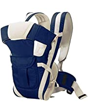 MELVIS Baby Carrier Bag/Adjustable Hands Free 4 in 1 Baby/Baby sefty Belt/Child Safety Strip/Baby Sling Carrier Bag/Baby Navy Blue Carrier Bag (Navy Blue) Front Carry Facing