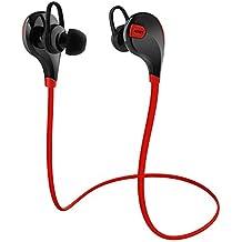 AUKEY Auriculares Bluetooth 4.1 Sport Inalámbrico headphone In Ear Stereo Cuello con Micrófono Resistente al Sudor para iOS, Android, iPad, etc. Smartphones ( EP-B4 Rojo )