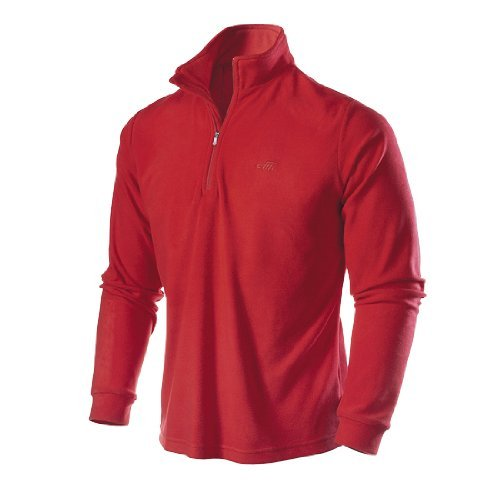 Medico Herren Ski Shirt, Fleece, langarm, Reißverschluss (weinrot, L) (Langarm-fleece-shirt)