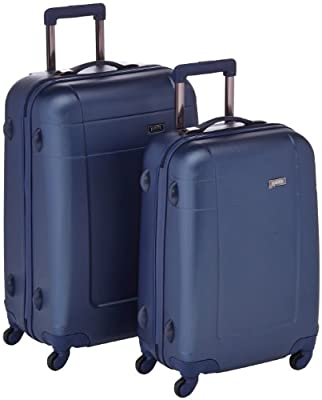 paklite (made by Travelite) Voyager ABS 2-Part Wheeled Luggage Case Set