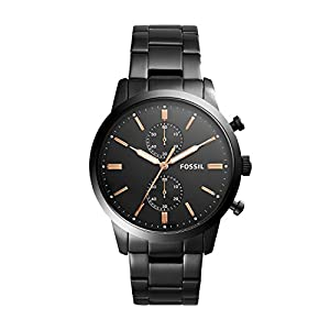 Fossil Herren Chronograph Quarz Uhr mit Edelstahl Armband FS5379