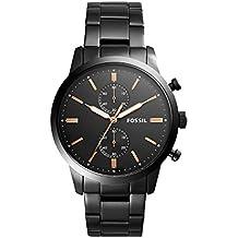 6be97f23eed4 Fossil Reloj Cronógrafo para Hombre de Cuarzo con Correa en Acero  Inoxidable FS5379