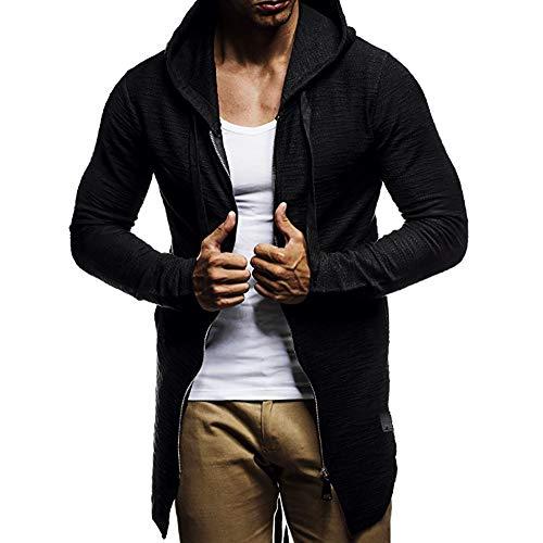 MEIbax Casual Moda Hip Hop Cárdigan Hombre Suéter Camuflaje de otoño Invierno Chaqueta de Punto Knitwear Cardigan Sudadera con Capucha de Cremallera cálida Abrigo Outwear