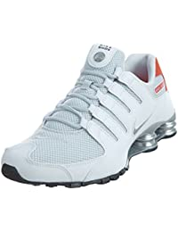 size 40 75619 09972 Nike Mens Shox NZ Special Edition White Metallic Silver Mesh Trainers 46 EU
