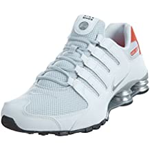 buy online 5c696 2226a Nike Shox NZ SE Men s Shoes White Max Orange Black Metallic Silver 833579