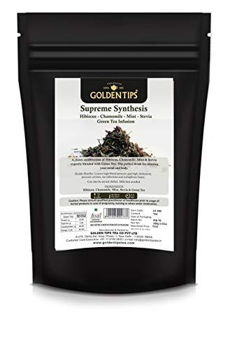 Darjeeling Supreme Synthesis Hibiscus Chamomile Mint Stevia Green Tea Infusion | Weight Loosing Tea | Green tea organic india | Green tea for weight loss fast | Weight loosing green tea | Darjeeling tea |Assam tea |Tea for glowing skin | Lemon green tea weight loss