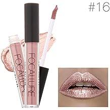 Pintalabios metálico, Internet Cosméticos de moda mujeres lápiz labial metálico (A)