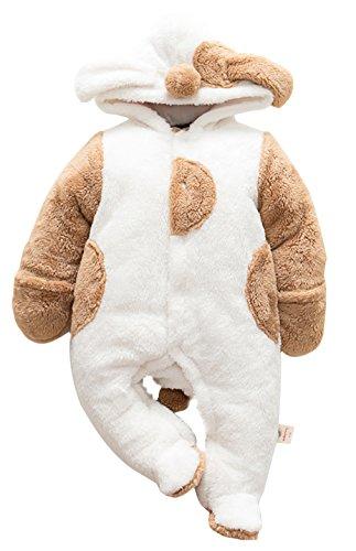 Jungen Fleece Overall Winter Strampler Jumpsuit Karneval Fasching Kostüme (Hündchen, 3-6 M) (Halloween-spiele Für Eine Herbst-festival)