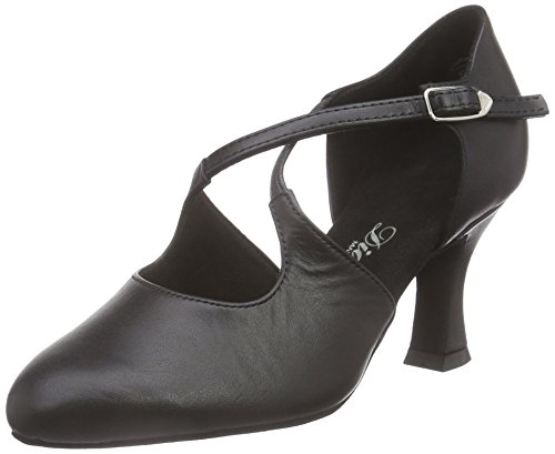 Diamond Ladies Dance Shoes 052-080-034 Ladies Standard E Latin Black (nero)