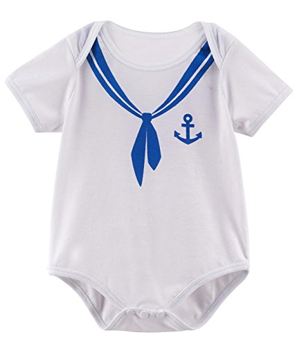 (Mombebe Baby Jungen Matrose Kostüm Bodys (Matrose, 0-3 Monate))