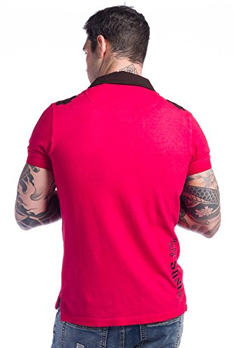 Koroshi Herren Poloshirt Rot