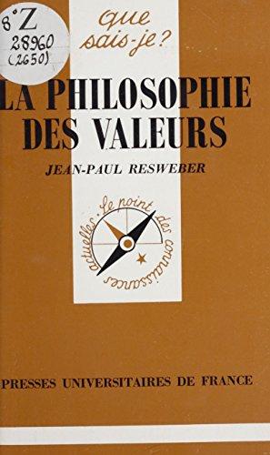 La Philosophie des valeurs