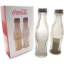 Cristal Retro Coca Cola Botella Saleros Y Pimenteros