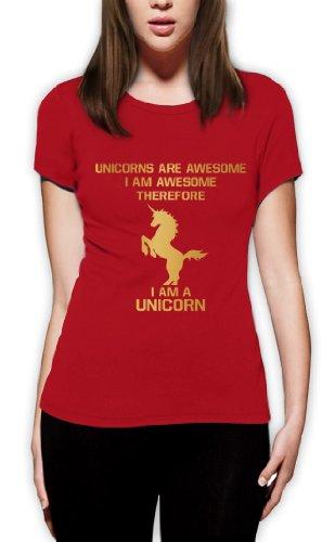 I'm a Unicorn Frauen T-Shirt Rot