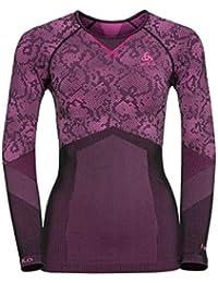 Odlo Blackcomb Evolution Warm Mallas de Entrenamiento para Mujer, Black-Pink GLO