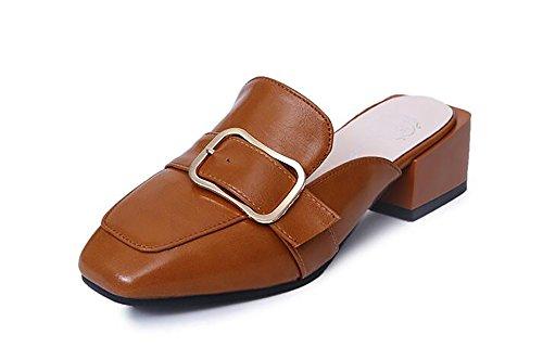 Sandali Da Donna Flip Flop Scarpe Open Toe Caviglia PU Cinturino In Pelle Piatta Sandali Scarpe Da Spiaggia Con Bottoni Casual,35