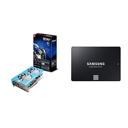 Sapphire 11265-21-20G Radeon RX 580 GDDR5 Grafikkarte blau & Samsung MZ-76E500B/EU 860 EVO interne SSD 500GB (6,4 cm (2,5 Zoll), SATA III) schwarz
