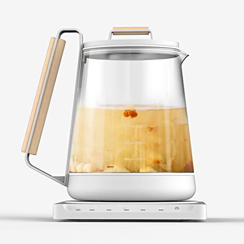 ZHAO ZHANQIANG Gesundheitstopf, Multi-Funktions-Tee-Hersteller für zu Hause, Chinesischer Medizin-Topf, Blumentee-Topf, Dickes Glas (Farbe : Weiß)