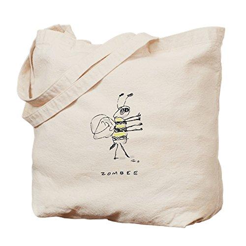 CafePress Zombee Einkaufstasche aus Leinen, naturfarben, canvas, khaki, S