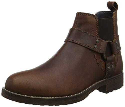 Red Tape Herren Albany Chelsea Boots, Braun (Wood 0), 43 EU
