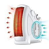 HBBNF Radiateur Soufflant Electrique Portable avec 3s Chauffage Soufflant Rapide Et Thermostat Réglable pour Maison Bureau Table Sol