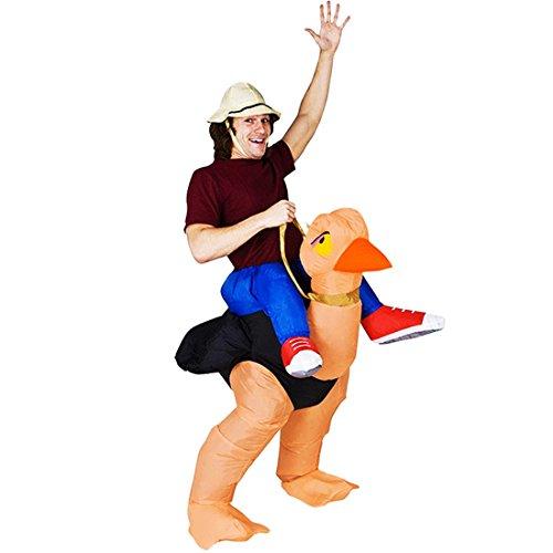 Erwachsene Strauß Aufblasbare Kostüme (Triseaman Unisex Erwachsene Halloween Lustige Fancy Blow Up Outfit Kostüm Aufblasbare Anzug)