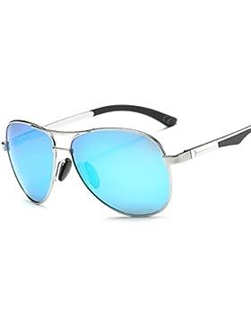VeBrellen Unisex Polarizadas Aviador clásico Gafas De Sol Al-Mg Metal Frame Para Hombre y Para Mujer