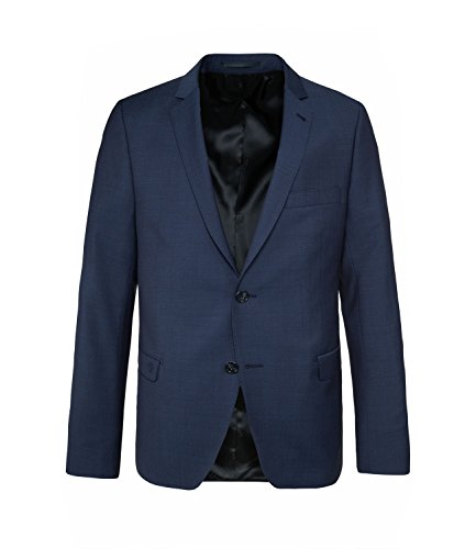 Michaelax-Fashion-Trade - Costume - Uni - Manches Longues - Homme Bleu - Blue - Dark Royal Blue