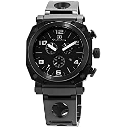 Grafenberg Men's Quartz Watch with Black Dial Analogue Display and Black Stainless Steel Bracelet GB205-622