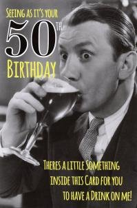 Male 50th Birthday funny Joke card