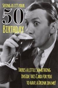 Male 50th Birthday Funny Joke Card