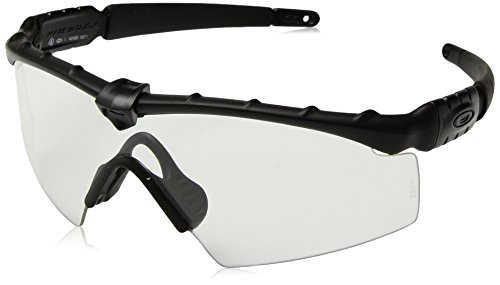 Oakley Industrial M Frame 2.0 Sunglasses, Matte Black/Clear, One Size