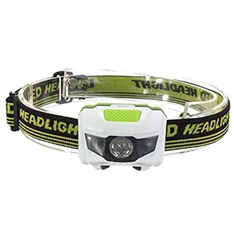 3 LED Headlamp Flashlight - WinCret 300 Lumens Outdoor Hunting Fishing Headset Headlight, 3 AAA Batteries Headlight Bulb, Waterproof, Adjustable