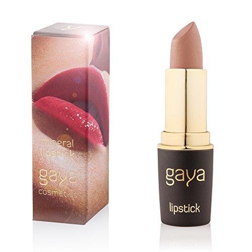 Gaya Cosmetics Mineral Lippenstift Matt - Feuchtigkeitsspendende Formel für Atemberaubend Gesunde,...