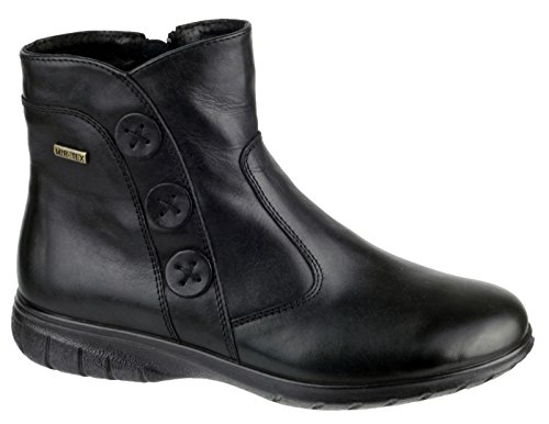 Cotswold Ladies Dowdeswell Leather Zip Fastening Ankle Boot Brown Black