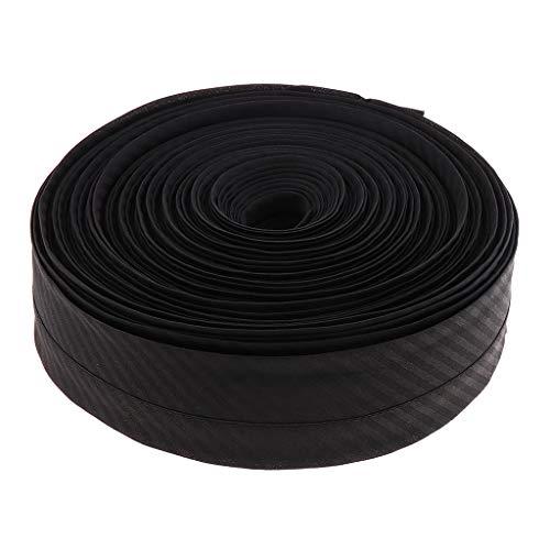 IPOTCH 25 Meter 5cm Schwarze Schrägband Nähen Bänder Einfaßband Kantenband Fischgrätband für Hosen Taille