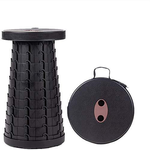 Tragbarer Klapphocker Für Das Wandern Von Mobilität Camping Bügel Kreativer Klapphocker Schwarz Material Polyamid Campingstuhl Dreibeinhocker (Schwarz) -