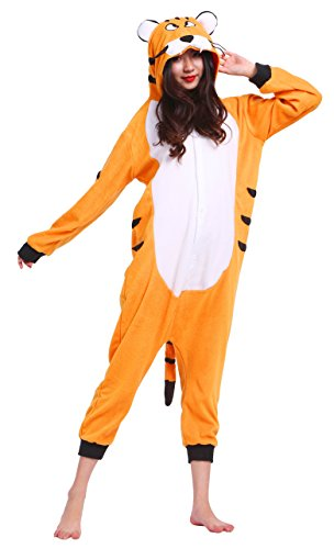 Pyjamas-Tigre-Adulte-Enfant-Femme-Polaire-Deguisement-Integrale-Jumpsuit-Kigurumi-Nol-Halloween-Hiver