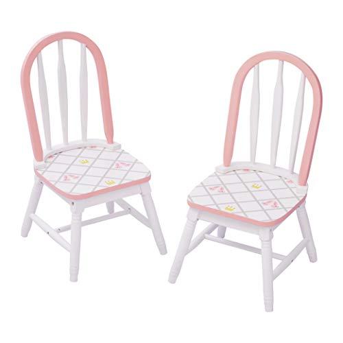 Fantasy Fields Swan Lake Swan Lake Ballerina Juego de 2 sillas | Muebles de madera pintados a mano para niños | La mesa se vende por separado