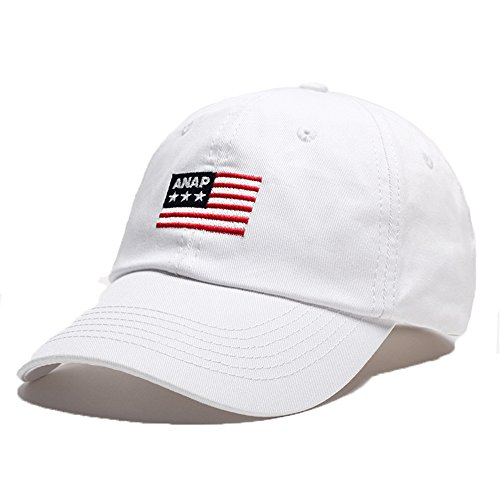 Imagen de  de beisbol para la primavera verano otoño invierno niños hombres bordado bandera  americana blanco