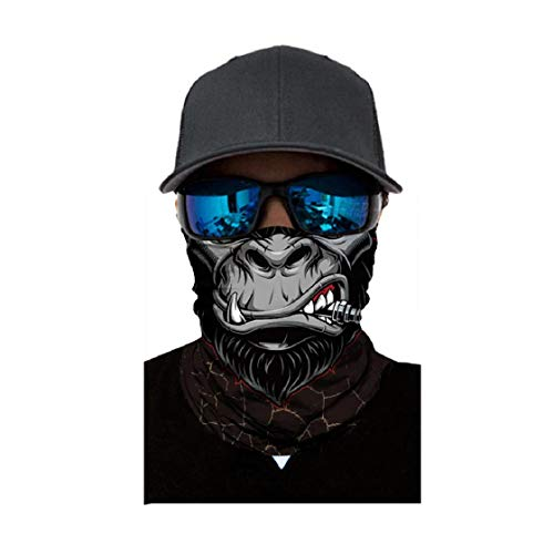 Koojawind Stirnband Bandana - Outdoor Kopfbedeckung, Halstuch Halstuch, Breites Stirnband, Kopfhaube Balaclava Tube Mask Multifunktionale Kopfbedeckung, Schutz Vor Staub, Auspuff