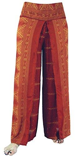 Palazzohose, offene Sommerhose / lange Hosen Orange